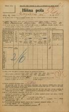 Popis prebivalstva 20. 12. 1921<br />Ljubljana<br />Korytkova ulica 20<br />Population census 20 December 1921