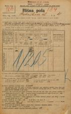 Popis prebivalstva 20. 12. 1921<br />Ljubljana<br />Kotnikova ulica 4<br />Population census 20 December 1921