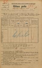 Popis prebivalstva 20. 12. 1921<br />Ljubljana<br />Kotnikova ulica 8<br />Population census 20 December 1921