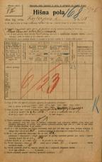 Popis prebivalstva 20. 12. 1921<br />Ljubljana<br />Kozlerjeva cesta 118<br />Population census 20 December 1921