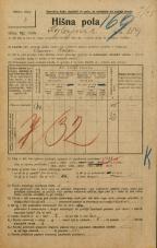 Popis prebivalstva 20. 12. 1921<br />Ljubljana<br />Kozlerjeva cesta 119<br />Population census 20 December 1921
