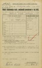 Popis prebivalstva 20. 12. 1921<br />Ljubljana<br />Kozlerjeva cesta 119a<br />Population census 20 December 1921