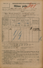 Popis prebivalstva 20. 12. 1921<br />Ljubljana<br />Krakovska ulica 13<br />Population census 20 December 1921