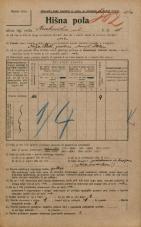 Popis prebivalstva 20. 12. 1921<br />Ljubljana<br />Krakovska ulica 15<br />Population census 20 December 1921