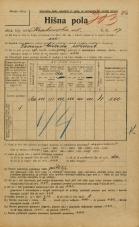 Popis prebivalstva 20. 12. 1921<br />Ljubljana<br />Krakovska ulica 17<br />Population census 20 December 1921