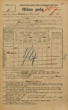 Popis prebivalstva 20. 12. 1921<br />Ljubljana<br />Krakovska ulica 23<br />Population census 20 December 1921