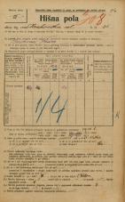 Popis prebivalstva 20. 12. 1921<br />Ljubljana<br />Krakovska ulica 25<br />Population census 20 December 1921