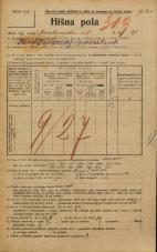 Popis prebivalstva 20. 12. 1921<br />Ljubljana<br />Krakovska ulica 27<br />Population census 20 December 1921