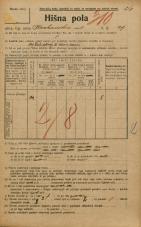 Popis prebivalstva 20. 12. 1921<br />Ljubljana<br />Krakovska ulica 29<br />Population census 20 December 1921