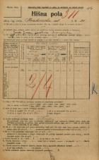 Popis prebivalstva 20. 12. 1921<br />Ljubljana<br />Krakovska ulica 31<br />Population census 20 December 1921