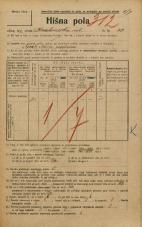 Popis prebivalstva 20. 12. 1921<br />Ljubljana<br />Krakovska ulica 33<br />Population census 20 December 1921