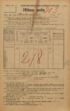 Popis prebivalstva 20. 12. 1921<br />Ljubljana<br />Krakovska ulica 35<br />Population census 20 December 1921