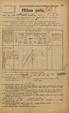 Popis prebivalstva 20. 12. 1921<br />Ljubljana<br />Krakovska ulica 1<br />Population census 20 December 1921