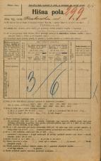 Popis prebivalstva 20. 12. 1921<br />Ljubljana<br />Krakovska ulica 10<br />Population census 20 December 1921