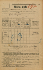 Popis prebivalstva 20. 12. 1921<br />Ljubljana<br />Krakovska ulica 3<br />Population census 20 December 1921