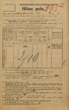 Popis prebivalstva 20. 12. 1921<br />Ljubljana<br />Krakovska ulica 5<br />Population census 20 December 1921