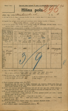 Popis prebivalstva 20. 12. 1921<br />Ljubljana<br />Krakovska ulica 6<br />Population census 20 December 1921