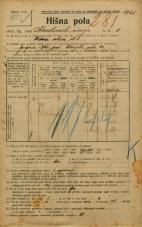 Popis prebivalstva 20. 12. 1921<br />Ljubljana<br />Krakovski nasip 4<br />Population census 20 December 1921