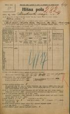 Popis prebivalstva 20. 12. 1921<br />Ljubljana<br />Krakovski nasip 6<br />Population census 20 December 1921