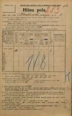 Popis prebivalstva 20. 12. 1921<br />Ljubljana<br />Krakovski nasip 8<br />Population census 20 December 1921