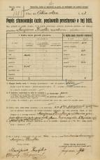 Popis prebivalstva 20. 12. 1921<br />Ljubljana<br />Krakovski nasip - Vrtna ulica 3<br />Population census 20 December 1921