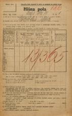 Popis prebivalstva 20. 12. 1921<br />Ljubljana<br />Kralja Petra trg 1<br />Population census 20 December 1921