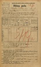 Popis prebivalstva 20. 12. 1921<br />Ljubljana<br />Kralja Petra trg 2<br />Population census 20 December 1921