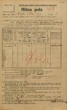 Popis prebivalstva 20. 12. 1921<br />Ljubljana<br />Kralja Petra trg 3<br />Population census 20 December 1921