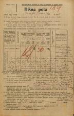 Popis prebivalstva 20. 12. 1921<br />Ljubljana<br />Kralja Petra trg 8<br />Population census 20 December 1921