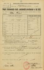 Popis prebivalstva 20. 12. 1921<br />Ljubljana<br />Kralja Petra trg - Cigaletova ulica 4<br />Population census 20 December 1921