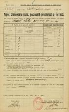Popis prebivalstva 20. 12. 1921<br />Ljubljana<br />Miklošičeva cesta 11<br />Population census 20 December 1921