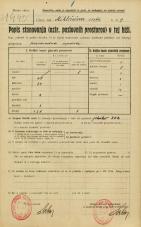 Popis prebivalstva 20. 12. 1921<br />Ljubljana<br />Miklošičeva cesta 9<br />Population census 20 December 1921