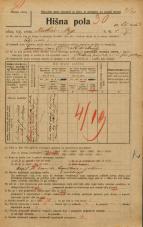 Popis prebivalstva 20. 12. 1921<br />Ljubljana<br />Krekov trg 1<br />Population census 20 December 1921