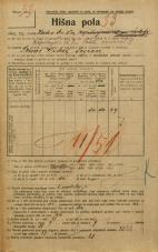 Popis prebivalstva 20. 12. 1921<br />Ljubljana<br />Krekov trg 10<br />Population census 20 December 1921