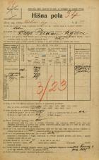 Popis prebivalstva 20. 12. 1921<br />Ljubljana<br />Krekov trg 11<br />Population census 20 December 1921