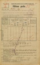 Popis prebivalstva 20. 12. 1921<br />Ljubljana<br />Krekov trg 12<br />Population census 20 December 1921
