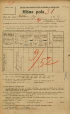 Popis prebivalstva 20. 12. 1921<br />Ljubljana<br />Krekov trg 2<br />Population census 20 December 1921