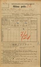 Popis prebivalstva 20. 12. 1921<br />Ljubljana<br />Krekov trg 7<br />Population census 20 December 1921