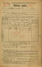 Popis prebivalstva 20. 12. 1921<br />Ljubljana<br />Križevniška ulica 2<br />Population census 20 December 1921