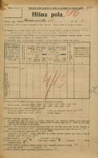 Popis prebivalstva 20. 12. 1921<br />Ljubljana<br />Križevniška ulica 3<br />Population census 20 December 1921