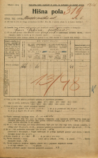 Popis prebivalstva 20. 12. 1921<br />Ljubljana<br />Križevniška ulica 6<br />Population census 20 December 1921