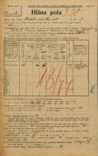 Popis prebivalstva 20. 12. 1921<br />Ljubljana<br />Križevniška ulica 7<br />Population census 20 December 1921