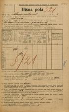 Popis prebivalstva 20. 12. 1921<br />Ljubljana<br />Križevniška ulica 8<br />Population census 20 December 1921