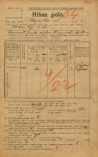 Popis prebivalstva 20. 12. 1921<br />Ljubljana<br />Krojaška ulica 1<br />Population census 20 December 1921