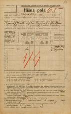Popis prebivalstva 20. 12. 1921<br />Ljubljana<br />Krojaška ulica 3<br />Population census 20 December 1921
