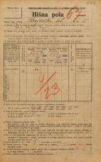 Popis prebivalstva 20. 12. 1921<br />Ljubljana<br />Krojaška ulica 5<br />Population census 20 December 1921