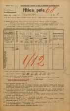Popis prebivalstva 20. 12. 1921<br />Ljubljana<br />Krojaška ulica 6<br />Population census 20 December 1921