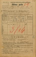 Popis prebivalstva 20. 12. 1921<br />Ljubljana<br />Krojaška ulica 8<br />Population census 20 December 1921