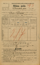Popis prebivalstva 20. 12. 1921<br />Ljubljana<br />Krsnikova ulica 11<br />Population census 20 December 1921