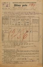 Popis prebivalstva 20. 12. 1921<br />Ljubljana<br />Krsnikova ulica 5<br />Population census 20 December 1921